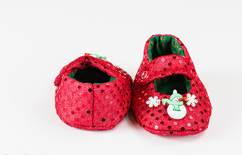 Christmas Shoe.Handmade Christmas Baby Shoes